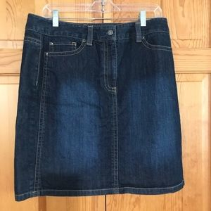 Ann Taylor mid-length denim skirt